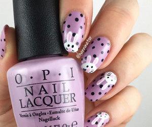 bunny nails, easter nails, and easter nail art image