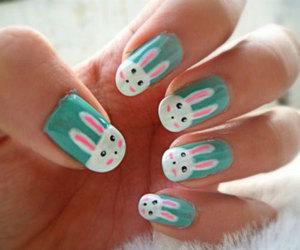 nails, bunny, and art image