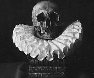 skull, book, and dark image