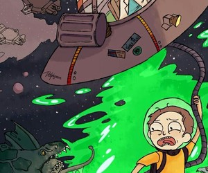 background and rick and morty image