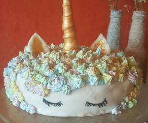 cake, unicorn, and sleepingbeauty image