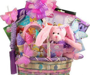 easter basket, easter bunny basket, and easter bunny gifts image