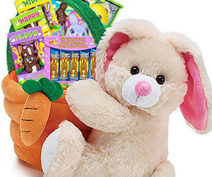 easter basket, easter bunny gifts, and easter bunny basket image
