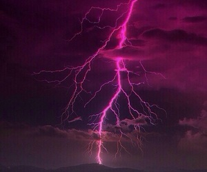 sky, pink, and lightning image