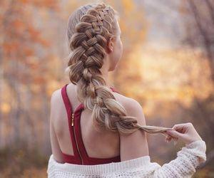 autumn, braid, and fall image