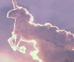 black, clouds, and horse image