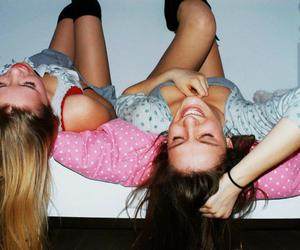 best friends, sleepover, and girls image
