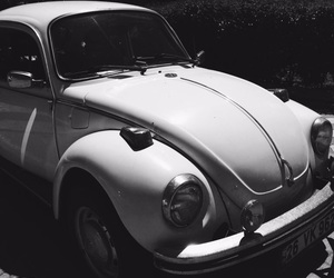beetle, black and white, and car image