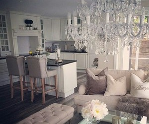 dinning room, fashion, and grey image