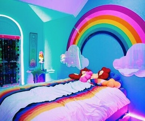 rainbow, aesthetic, and alternative image