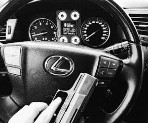 arms, gun, and lexus image