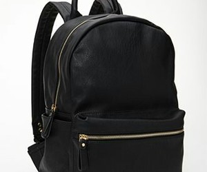 backpack, black, and girl image
