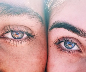 eyes, couple, and summer image