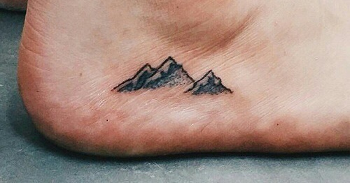 tattoo, ink, and mountains image
