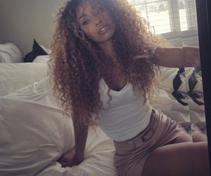 curly hair, mixed, and biracial image
