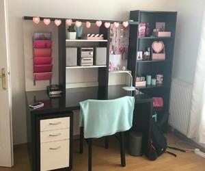 bedroom, desk, and girl image