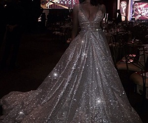 dress, luxury, and sparkle image