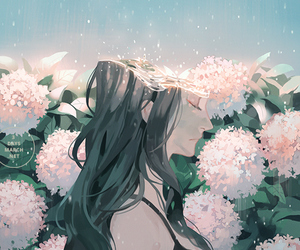 flowers, beautiful, and anime image