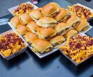 food, burger, and cheese image