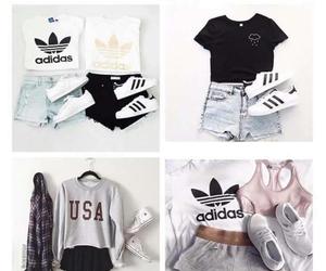 fashion, clothes, and adidas image