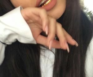 nails, hair, and gold image