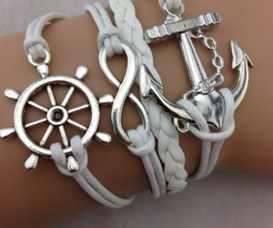 bracelet, anchor, and jewelry image