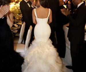 dress, married, and kim kardashian image