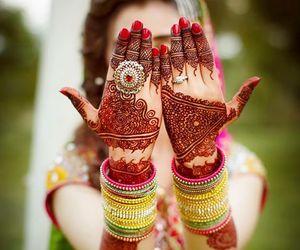 henna, wedding, and pakistani image