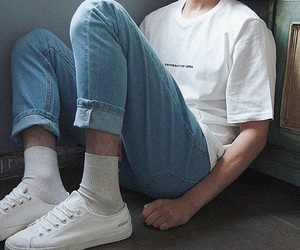 jeans, style, and white image