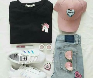 fashion, unicorn, and adidas image
