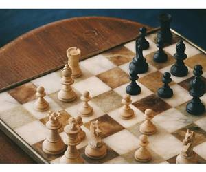 antique, chess, and chessboard image