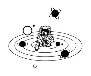 white and space image