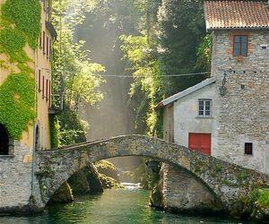 italy, bridge, and italia image