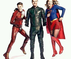 arrow, melissa benoist, and the flash image