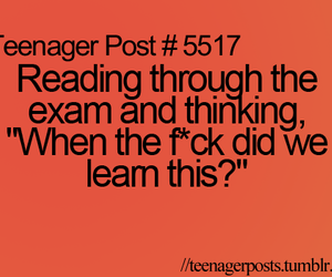 exam, forgetting, and lol image