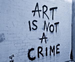 art, crime, and wall image