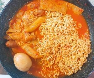 egg, ramen, and korean food image