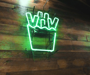 fries, green, and lights image
