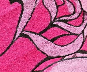 graffiti, pink, and pink rose image