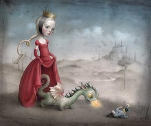 dragon, art, and illustration image