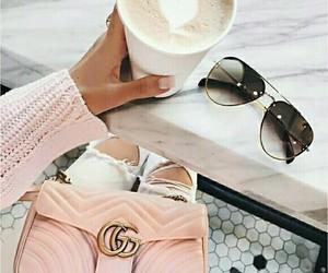 pink, coffee, and bag image