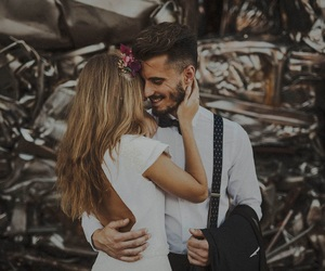 boy, couple, and cuddle image