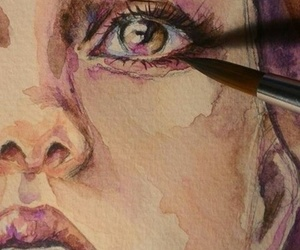 drawing, face, and painting image