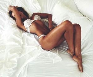 bed, bikini, and girl image