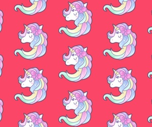 pink, unicorn, and wallpaper image