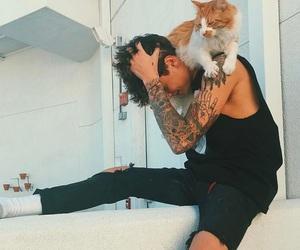 kian lawley, kian, and cat image