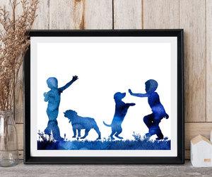 boys, dogs, and labrador image