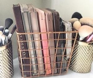 Brushes, makeup, and organization image