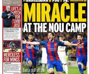 Barca, Barcelona, and magazine image