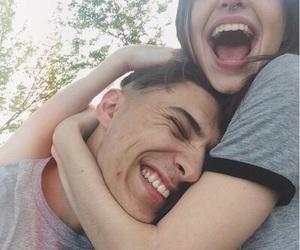 black, couple, and cuddling image
